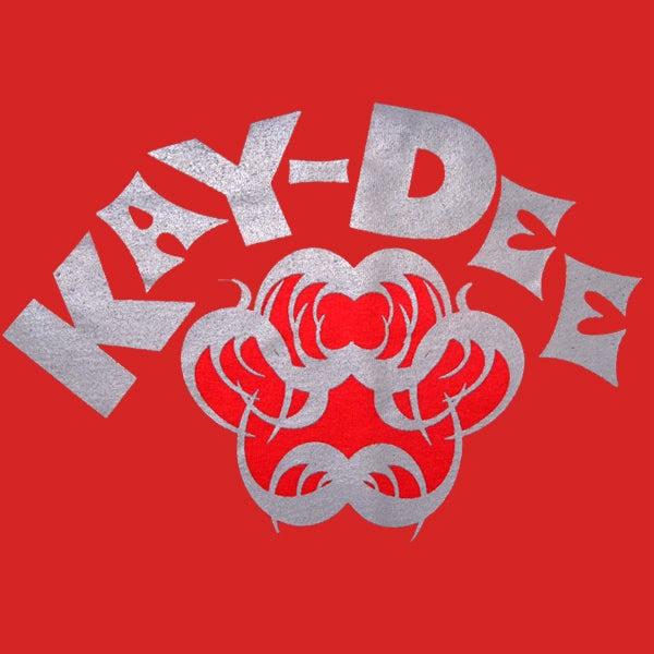 Image of KAYDEE-GREY ON RED