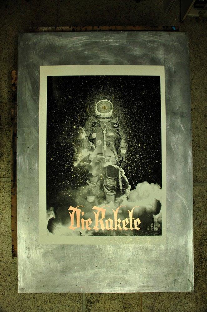 Image of Die Rakete / Handprinted Silkscreen Poster