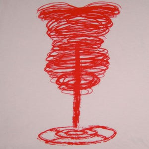 Image of Scribbly Corset Tee Shirt - Pink/Red