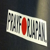 Image of Pray for Japan Decal - Black