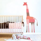 Image of Giraffe Puzzle Fabric Wall or Sticker Decal