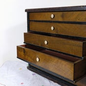 Image of Vintage 5 drawer Wooden Toolbox