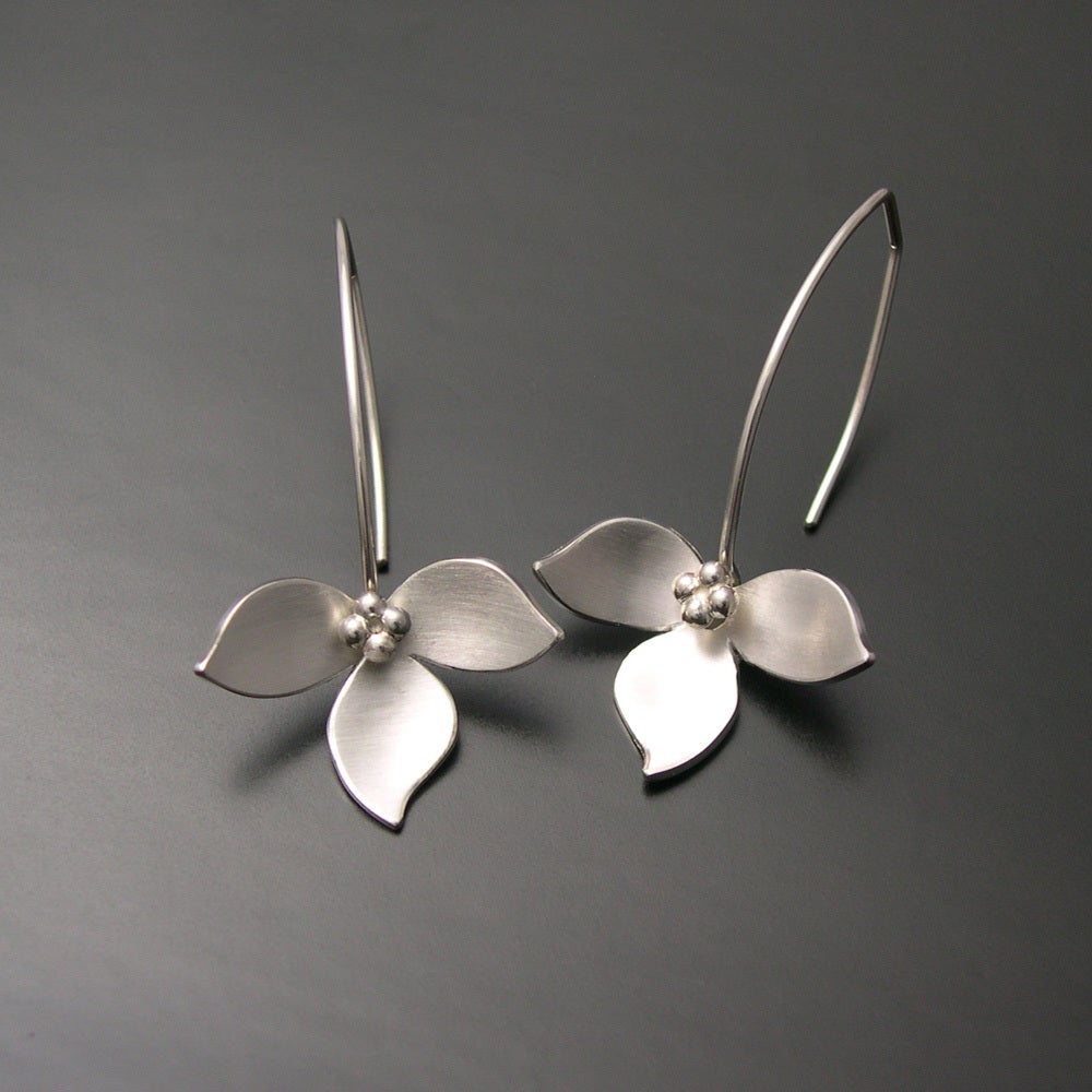 Lotus Earrings Silver Ai Jewelry