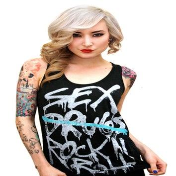 Image of Sex & Rock N' Roll Tank Top (Heather Black)
