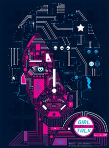 Image of Girl Talk Seattle Poster 2009