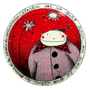 "Image of Fun Porcelain Plate ""Célestin"" by Mlle Héloïse"