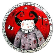 "Image of Fun Porcelain Plate ""Marinette"" by Mlle Héloïse"