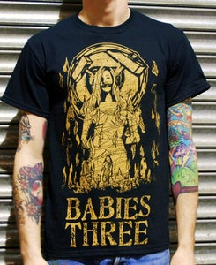 """Image of Babies Three """"Woman on Fire"""" T-Shirt"""