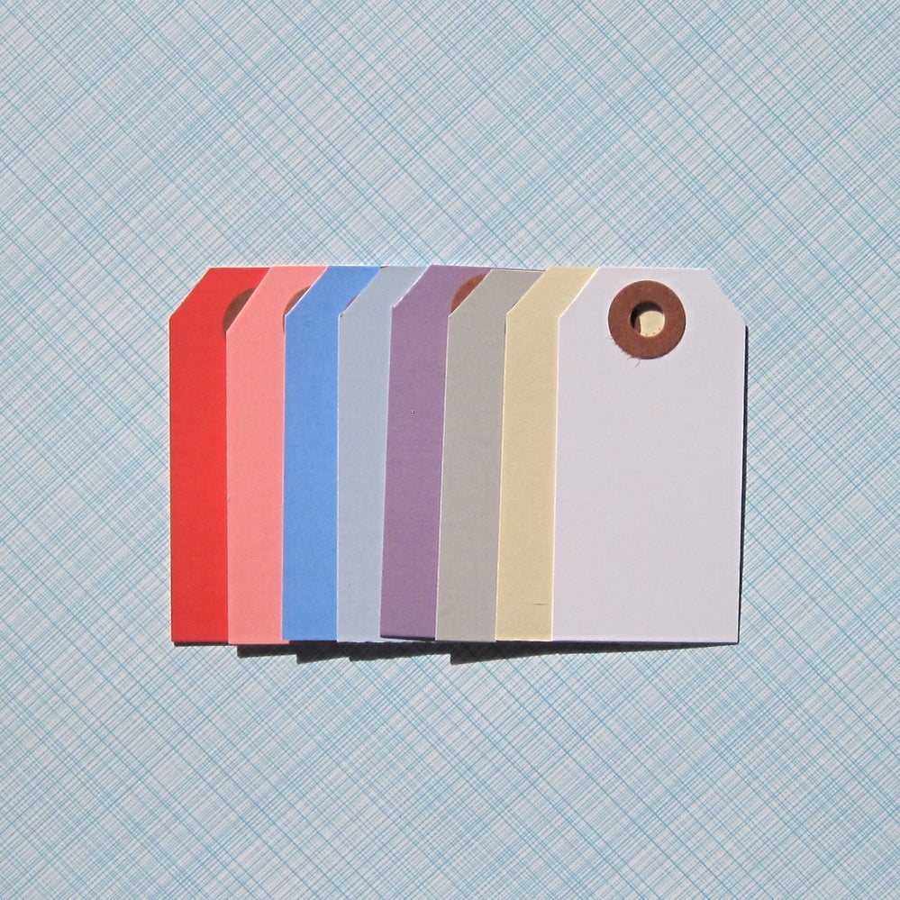 Colored Shipping Tags Variety Pack Of 80 on Colored Paper