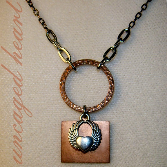 Image of Uncaged Heart Necklace