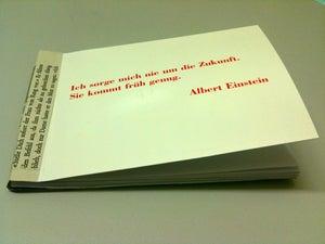 Image of Albert Einstein meets Robert Walser. Notizbuch aus Makulaturpapier