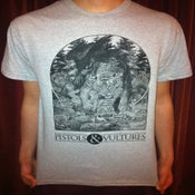 Image of Grey T-Shirt with Black Screen Print