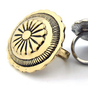 Image of Concho Villa Oversized Double Finger Ring