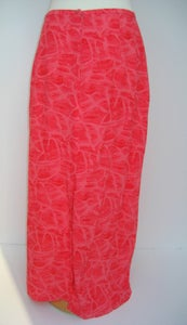 Image of CORAL PINK ELECTRO-TRASH SKIRT