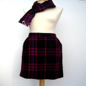 Image of TARTAN MINI-SKIRT+ MATCHING SCARF