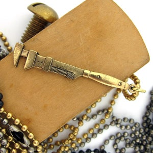 Image of UNION Parts & Recreation Toolbox Necklace- Wrench Charm on Ballchain Necklace