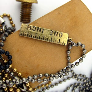 Image of UNION Parts & Recreation Toolbox Necklace- Inch Ruler Charm on Ballchain Necklace