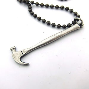 Image of UNION Parts & Recreation Toolbox Necklace- Hammer Charm on Ballchain Necklace