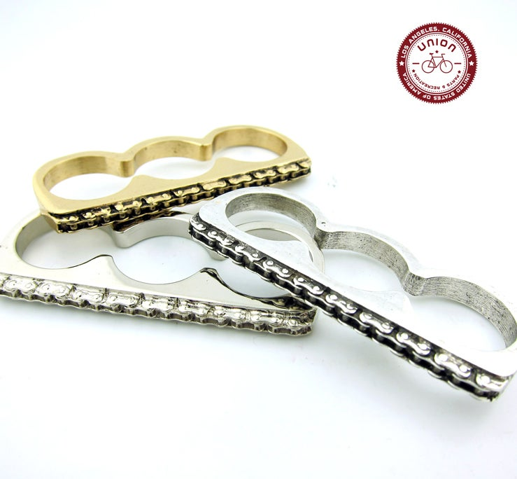 Union Parts Recreation Bicycle Jewelry 3 Finger Bike Chain Ring