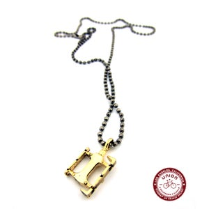 Image of UNION Parts & Recreation Bicycle Jewelry- Bike Pedal Charm Necklace