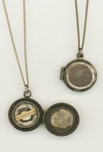 Image of Sterling Silver Antiqued Memento-Mori Locket