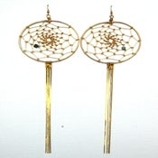 Image of Gold Dreamcatcher Earrings