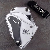Image of Hair Royalty-Leather Tool Holster (White w/Black)