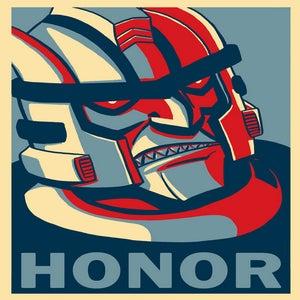 "Image of Dinobot ""HONOR"" poster"