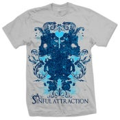 Image of A Sinful Attraction grey floral tee