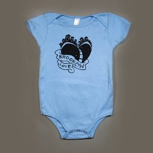 "Image of ""Brooklyn Love""® Blue Baby One Piece"