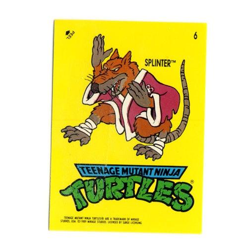 Image of TEENAGE MUTANT NINJA TURTLES CARDS 1989