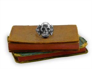 Image of Silver Victorian Skull Ring