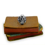 Image of Silver Victorian Skull Ring
