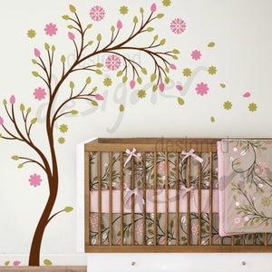 Image of Beautiful Blossom Garden - dd1051 - Kids Nursery Vinyl Wall Sticker Decal Art