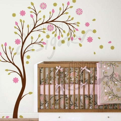 Wall Art Stickers For Nursery : Nursery wall decal grasscloth wallpaper