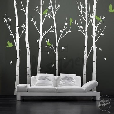 Vinyl Wall Decal Sticker Art Birds In The Urban Forest 101in Tall 6