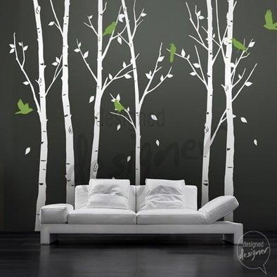 Vinyl Wall Decal Sticker Art - Birds in the Urban Forest ...