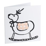 Image of Reindeer – Mirror card (Copper)