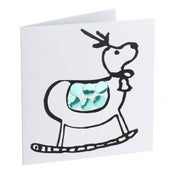 Image of Reindeer – Mirror card (Green)