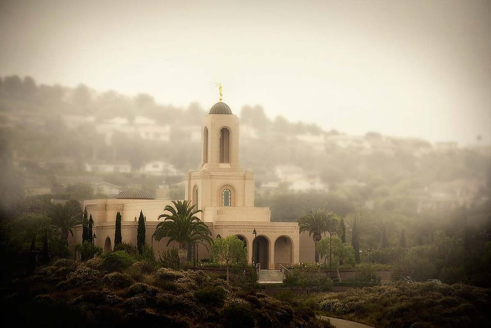 Image of Newport Temple in Morning Fog