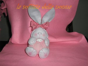 Image of Pink Easter rabbit- Coniglietto rosa