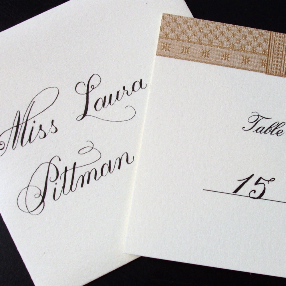 The pretty pen — place card calligraphy