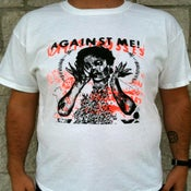 Image of Against Me! - White Crosses White T-Shirt