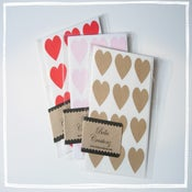 Image of Heart Stickers ~ Envelope Seals ~ Pink, Red, or Kraft  **Free shipping