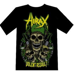 """Image of HIRAX """"Violent Assault"""" T-SHIRT"""