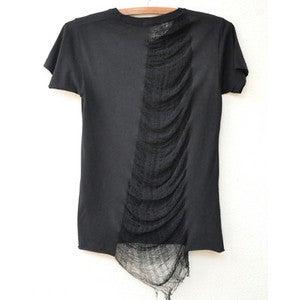 Image of Black Shredded tee