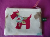 Image of Scottie dog oilcloth coin purse SALE