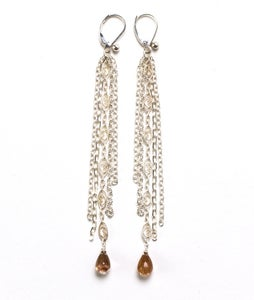 Image of Long Silver Chain Earrings