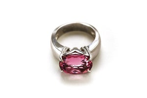 Image of Pink Tourmaline MOM Ring in 14kwg