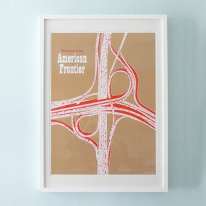 Image of American Frontier Silk Screen Print